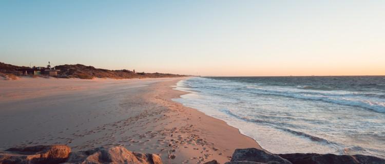 scenic Australian beach at sunset
